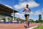 27 June 2021; Jerome Caprice of Dundrum South Dublin AC, on his way to winning the Men's 10000m Walk during day three of the Irish Life Health National Senior Championships at Morton Stadium in Santry, Dublin. Photo by Sam Barnes/Sportsfile