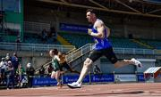 27 June 2021; Eanna Madden of Carrick-on-Shannon AC, Leitrim, competing in the Men's 200m during day three of the Irish Life Health National Senior Championships at Morton Stadium in Santry, Dublin. Photo by Sam Barnes/Sportsfile