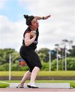27 June 2021; Michaela Walsh of Swinford AC, Mayo, competing in the Women's Shot Put during day three of the Irish Life Health National Senior Championships at Morton Stadium in Santry, Dublin. Photo by Sam Barnes/Sportsfile