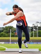 27 June 2021; Casey Mulvey of Inny Vale AC, Cavan, competing in the Women's Shot Put during day three of the Irish Life Health National Senior Championships at Morton Stadium in Santry, Dublin. Photo by Sam Barnes/Sportsfile