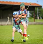 28 June 2021; Darragh Hartnett and Mikey Browne were on hand in Bruff GAA Club, Limerick to mark the first day of this year's Kellogg's GAA Cúl Camps with numbers of over 130,000 expected to attend across 1,242 camps the length and breadth of the country. The 2021 Kellogg's GAA Cúl Camps offers children a healthy, fun and safe summer outdoor activity at locations nationwide, and will continue until the end of August. Photo by Stephen McCarthy/Sportsfile