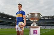 29 June 2021; Summer 2021 is officially on! Tipperary footballer, Conor Sweeney pictured today at AIB's launch of the 2021 GAA All-Ireland Senior Football Championship. Sweeney was in attendance at the launch alongside Pádraig Faulkner, Kingscourt Stars and Cavan, Daniel Flynn, Johnstownbridge and Kildare, Ryan O'Donoghue, Belmullet and Mayo, and Paul Donaghy, Dungannon Thomas Clarkes and Tyrone, as AIB celebrated the return of summer football and the reignition of county rivalries nationwide ahead of some of #TheToughest games of the year. Photo by Brendan Moran/Sportsfile