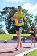 27 June 2021; Conor Duffy of Glaslough Harriers AC, Monaghan, competing in the Men's 10000m during day three of the Irish Life Health National Senior Championships at Morton Stadium in Santry, Dublin. Photo by Sam Barnes/Sportsfile