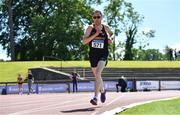 27 June 2021; Brian Lenihan of Blackrock AC, Dublin, competing in the Men's 10000m during day three of the Irish Life Health National Senior Championships at Morton Stadium in Santry, Dublin. Photo by Sam Barnes/Sportsfile