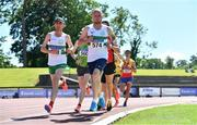 27 June 2021; William Maunsell of Clonmel AC, Tipperary, centre, and David Mansfield of Clonmel AC, left, competing in the Men's 10000m during day three of the Irish Life Health National Senior Championships at Morton Stadium in Santry, Dublin. Photo by Sam Barnes/Sportsfile