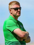 27 June 2021; Bray Wanderers manager Justin Gleeson  during the EA SPORTS Women's National U19 League match between Bray Wanderers and Peamount United at Carlisle Grounds in Bray, Wicklow. Photo by Michael P Ryan/Sportsfile