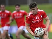 27 June 2021; Sean Marry of Louth during the Leinster GAA Football Senior Championship Round 1 match between Louth and Offaly at Páirc Tailteann in Navan, Meath. Photo by David Fitzgerald/Sportsfile