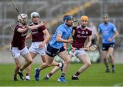 23 June 2021; Lee Gannon of Dublin in action against Galway players, from left, Sean Neary, Fionn McDonagh, and Conor Walsh during the 2020 Bord Gáis Energy Leinster Under 20 Hurling Championship Final match between Dublin and Galway at Bord na Móna O'Connor Park in Tullamore, Offaly. Photo by Piaras Ó Mídheach/Sportsfile