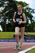 27 June 2021; Emily Machugh of Naas AC, Kildare, competing the Women's 5000m Walk during day three of the Irish Life Health National Senior Championships at Morton Stadium in Santry, Dublin. Photo by Sam Barnes/Sportsfile