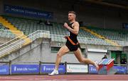 27 June 2021; Marcus Lawler of Clonliffe Harriers AC, Dublin, competing in the Men's 200m heats during day three of the Irish Life Health National Senior Championships at Morton Stadium in Santry, Dublin. Photo by Sam Barnes/Sportsfile
