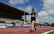 27 June 2021; Veronica Burke of Ballinasloe and District AC, Galway, competing in the Women's 5000m Walk during day three of the Irish Life Health National Senior Championships at Morton Stadium in Santry, Dublin. Photo by Sam Barnes/Sportsfile