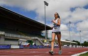 27 June 2021; Niamh O'Connor of Celbridge AC, Kildare, competing the Women's 5000m Walk  during day three of the Irish Life Health National Senior Championships at Morton Stadium in Santry, Dublin. Photo by Sam Barnes/Sportsfile