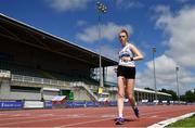 27 June 2021; Ruth Monaghan of Sligo AC competing in the Women's 5000m Walk during day three of the Irish Life Health National Senior Championships at Morton Stadium in Santry, Dublin. Photo by Sam Barnes/Sportsfile