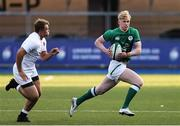 1 July 2021; Jamie Osborne of Ireland breaks away during the U20 Guinness Six Nations Rugby Championship match between Ireland and England at Cardiff Arms Park in Cardiff, Wales. Photo by Gareth Everett/Sportsfile