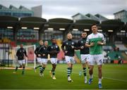 2 July 2021; Ronan Finn and Shamrock Rovers team-mates warm up before the SSE Airtricity League Premier Division match between Shamrock Rovers and Dundalk at Tallaght Stadium in Dublin. Photo by Stephen McCarthy/Sportsfile