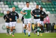 2 July 2021; Ronan Finn and Shamrock Rovers team-mates run out to warm up before the SSE Airtricity League Premier Division match between Shamrock Rovers and Dundalk at Tallaght Stadium in Dublin. Photo by Stephen McCarthy/Sportsfile