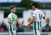 2 July 2021; Joe Doyle, left, and Richie O'Farrell of Bray Wanderers following their side's victory in the SSE Airtricity League First Division match between Bray Wanderers and Cobh Ramblers at Carlisle Grounds in Bray, Wicklow. Photo by Harry Murphy/Sportsfile