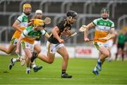 3 July 2021; Harry Shine of Kilkenny in action against Offaly during the 2020 Electric Ireland Leinster GAA Hurling Minor Championship Final match between Offaly and Kilkenny at MW Hire O'Moore Park in Portlaoise, Laois. Photo by Matt Browne/Sportsfile