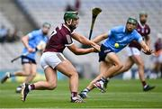 3 July 2021; Fintan Burke of Galway in action against Chris Crummey of Dublin during the Leinster GAA Hurling Senior Championship Semi-Final match between Dublin and Galway at Croke Park in Dublin. Photo by Piaras Ó Mídheach/Sportsfile