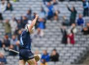3 July 2021; Dublin goalkeeper Alan Nolan celebrates his side's first goal, scored by team-mate Chris Crummey, during the Leinster GAA Hurling Senior Championship Semi-Final match between Dublin and Galway at Croke Park in Dublin. Photo by Piaras Ó Mídheach/Sportsfile
