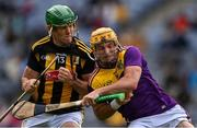 3 July 2021; Kevin Foley of Wexford is tackled by Eoin Cody of Kilkenny during the Leinster GAA Hurling Senior Championship Semi-Final match between Kilkenny and Wexford at Croke Park in Dublin. Photo by Piaras Ó Mídheach/Sportsfile