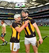 3 July 2021; Pádraig Walsh, left, and Walter Walsh of Kilkenny after their side's victory over Wexford in their Leinster GAA Hurling Senior Championship Semi-Final match at Croke Park in Dublin. Photo by Seb Daly/Sportsfile