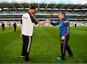 3 July 2021; Kilkenny manager Brian Cody and Wexford manager Davy Fitzgerald after the Leinster GAA Hurling Senior Championship Semi-Final match between Kilkenny and Wexford at Croke Park in Dublin. Photo by Seb Daly/Sportsfile