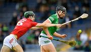 3 July 2021; Gearoid Hegarty of Limerick in action against Mark Coleman of Cork during the Munster GAA Hurling Senior Championship Semi-Final match between Cork and Limerick at Semple Stadium in Thurles, Tipperary. Photo by Stephen McCarthy/Sportsfile