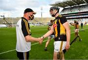 3 July 2021; Kilkenny manager Brian Cody and Walter Walsh after their side's victory over Wexford in their Leinster GAA Hurling Senior Championship Semi-Final match at Croke Park in Dublin. Photo by Seb Daly/Sportsfile