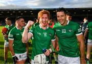 3 July 2021; Cian Lynch, left, and Dan Morrissey of Limerick celebrate following the Munster GAA Hurling Senior Championship Semi-Final match between Cork and Limerick at Semple Stadium in Thurles, Tipperary. Photo by Stephen McCarthy/Sportsfile