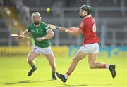 3 July 2021; Mark Coleman of Cork in action against Cian Lynch of Limerick during the Munster GAA Hurling Senior Championship Semi-Final match between Cork and Limerick at Semple Stadium in Thurles, Tipperary. Photo by Stephen McCarthy/Sportsfile