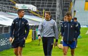 4 July 2021; Clare players Conor Cleary, Eibhear Quilligan and John Conlon walk the pitch before the the Munster GAA Hurling Senior Championship Semi-Final match between Tipperary and Clare at LIT Gaelic Grounds in Limerick. Photo by Ray McManus/Sportsfile