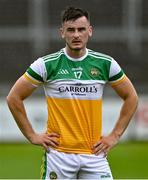 4 July 2021; Eoin Carroll of Offaly after his side's loss in the Leinster GAA Football Senior Championship Quarter-Final match between Kildare and Offaly at MW Hire O'Moore Park in Portlaoise, Laois. Photo by Piaras Ó Mídheach/Sportsfile