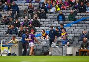 3 July 2021; Lee Chin of Wexford leaves the field to receive medical attention during the Leinster GAA Hurling Senior Championship Semi-Final match between Kilkenny and Wexford at Croke Park in Dublin. Photo by Piaras Ó Mídheach/Sportsfile