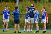 8 July 2021; Coach Hannah Tyrrell with participants at the Bank of Ireland Leinster Rugby Summer Camp at Energia Park in Dublin. Photo by Matt Browne/Sportsfile