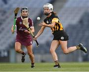 20 June 2021; Davina Tobin of Kilkenny in action against Aoife Donohue of Galway during the Littlewoods Ireland Camogie League Division 1 Final match between Galway and Kilkenny at Croke Park in Dublin. Photo by Piaras Ó Mídheach/Sportsfile