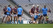 3 July 2021; Chris Crummey of Dublin after a tussle during the Leinster GAA Hurling Senior Championship Semi-Final match between Dublin and Galway at Croke Park in Dublin. Photo by Piaras Ó Mídheach/Sportsfile