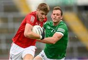 10 July 2021; Ian Maguire of Cork in action against Darragh Treacy of Limerick during the Munster GAA Football Senior Championship Semi-Final match between Limerick and Cork at the LIT Gaelic Grounds in Limerick. Photo by Harry Murphy/Sportsfile