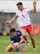 10 July 2021; Oisin McKiernan of Cavan in action against Michael McKernan of Tyrone during the Ulster GAA Football Senior Championship quarter-final match between Tyrone and Cavan at Healy Park in Omagh, Tyrone. Photo by Stephen McCarthy/Sportsfile