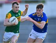 10 July 2021; Tom O'Sullivan of Kerry in action against Conor Bowe of Tipperary during the Munster GAA Football Senior Championship Semi-Final match between Tipperary and Kerry at Semple Stadium in Thurles, Tipperary. Photo by Piaras Ó Mídheach/Sportsfile