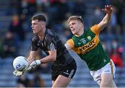 10 July 2021; Tipperary goalkeeper Evan Comerford in action against Tommy Walsh of Kerry during the Munster GAA Football Senior Championship Semi-Final match between Tipperary and Kerry at Semple Stadium in Thurles, Tipperary. Photo by Piaras Ó Mídheach/Sportsfile