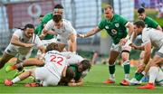 10 July 2021; Gavin Coombes of Ireland scores a try during the International Rugby Friendly match between Ireland and USA at the Aviva Stadium in Dublin. Photo by Brendan Moran/Sportsfile