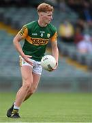 11 July 2021; Caolán Ó Conaill of Kerry during the 2020 Electric Ireland GAA Football All-Ireland Minor Championship Semi-Final match between Roscommon and Kerry at LIT Gaelic Grounds in Limerick. Photo by Piaras Ó Mídheach/Sportsfile