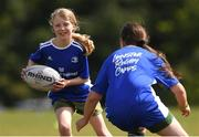 13 July 2021; Liadan Roughan, age 9, in action during the Bank of Ireland Leinster Rugby Summer Camp at Greystones RFC in Greystones, Wicklow. Photo by Matt Browne/Sportsfile