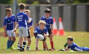 13 July 2021; Kieran Uhlemann, age 8, in action during the Bank of Ireland Leinster Rugby Summer Camp at Greystones RFC in Greystones, Wicklow. Photo by Matt Browne/Sportsfile
