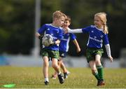 13 July 2021; Sam Byrne, age 7, in action during the Bank of Ireland Leinster Rugby Summer Camp at Greystones RFC in Greystones, Wicklow. Photo by Matt Browne/Sportsfile