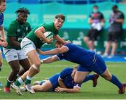 13 July 2021; Jude Postlethwaite of Ireland during the U20 Six Nations Rugby Championship match between Ireland and France at Cardiff Arms Park in Cardiff, Wales. Photo by Mark Lewis/Sportsfile