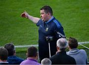 10 July 2021; Tipperary manager David Power is interviewed after his side's victory in the Munster GAA Football Senior Championship Semi-Final match between Tipperary and Kerry at Semple Stadium in Thurles, Tipperary. Photo by Piaras Ó Mídheach/Sportsfile