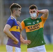 10 July 2021; Paul Geaney of Kerry and Michael Quinlivan of Tipperary in conversation after the Munster GAA Football Senior Championship Semi-Final match between Tipperary and Kerry at Semple Stadium in Thurles, Tipperary. Photo by Piaras Ó Mídheach/Sportsfile