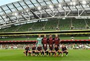 15 July 2021; The Bohemians team before the UEFA Europa Conference League first qualifying round second leg match between Bohemians and Stjarnan at the Aviva Stadium in Dublin. Photo by Seb Daly/Sportsfile